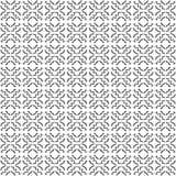 Linha vetor da onda do teste padrão do quadrado da flor da arte imagens de stock