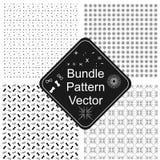 Linha vetor preto e branco do pacote do teste padrão da arte imagem de stock royalty free