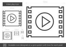 Linha video ícone do jogo ilustração royalty free