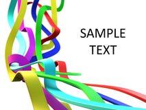 Linhas 3d coloridas Imagens de Stock