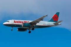 Linhas aéreas Airbus A319 de America West Fotografia de Stock Royalty Free