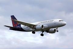 Linhas aéreas Airbus A319 de Bruxelas Foto de Stock