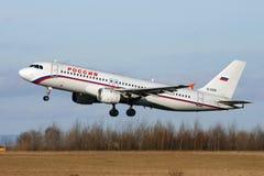 Linhas aéreas Airbus A320-212 de Rossiya Foto de Stock Royalty Free