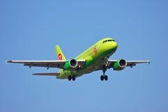 Linhas aéreas Airbus A319 de S7 Sibéria Foto de Stock Royalty Free