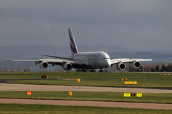 Linhas aéreas Airbus A380 dos emirados Imagens de Stock