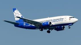 Linhas aéreas bielorrussas de EW-290PA Belavia, Boeing 737-500 Imagens de Stock Royalty Free