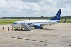 Linhas aéreas Boeing de Air Transat Imagens de Stock