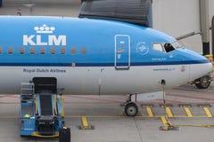 Linhas aéreas Boeing 737 de Royal Dutch Fotos de Stock