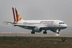Linhas aéreas de Airbus A319-100 Germanwings no aeroporto Foto de Stock