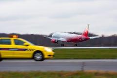 Linhas aéreas de Airbus a319 Rossiya, aeroporto Pulkovo, Rússia St Petersburg 22 de novembro de 2017 Imagens de Stock
