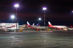 Linhas aéreas de Airbus a319 Rossiya, aeroporto Pulkovo, Rússia St Petersburg 22 de novembro de 2017 Fotos de Stock