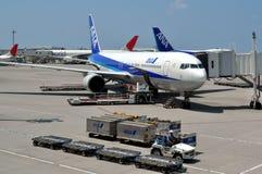 Linhas aéreas de ANA de Japão fotografia de stock royalty free