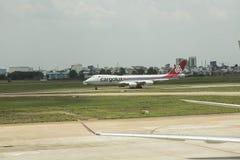 Linhas aéreas de Cargolux internacionais fotografia de stock royalty free
