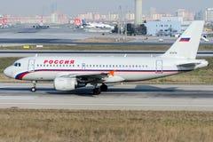 Linhas aéreas de EI-ETO Rossiya, Airbus A319-112 Imagens de Stock