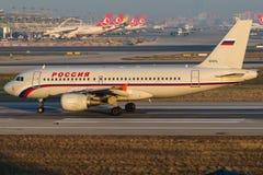Linhas aéreas de EI-EYL Rossiya, Airbus A319-111 Imagens de Stock