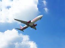 Linhas aéreas de Malindo no ar do céu Fotos de Stock Royalty Free
