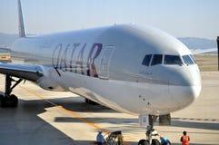 Linhas aéreas de Qatar foto de stock