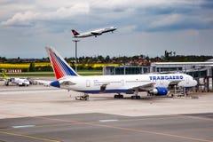 Linhas aéreas de Transaero Fotografia de Stock