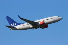 Linhas aéreas do escandinavo de Boeing 737NG SAS Imagem de Stock