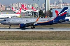 Linhas aéreas do russo de VP-BLR Aeroflot, Airbus A320-214 Fotos de Stock Royalty Free
