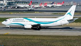 Linhas aéreas do vento de popa de TC-TLC, Boeing 737-400 Imagem de Stock Royalty Free