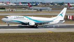 Linhas aéreas do vento de popa de TC-TLD, Boeing 737-400 Imagem de Stock