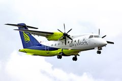 Linhas aéreas Dornier 328 de SkyWork Imagem de Stock