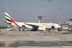 Linhas aéreas dos emirados Fotografia de Stock