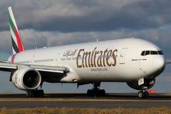 Linhas aéreas dos emirados Imagens de Stock