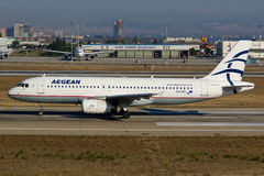 Linhas aéreas egéias Airbus A320 Fotografia de Stock