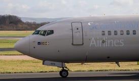 Linhas aéreas escandinavas Boeing 737 do SAS foto de stock