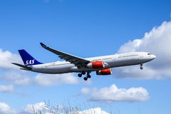 Linhas aéreas escandinavas, SAS, Airbus A330 - 343 Foto de Stock
