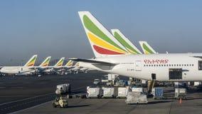 Linhas aéreas etíopes foto de stock royalty free
