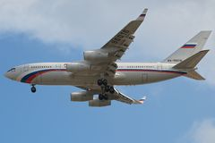 Linhas aéreas Ilyushin 96 de Rossiya Imagem de Stock Royalty Free