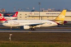 Linhas aéreas líbios Airbus A320 Imagens de Stock Royalty Free