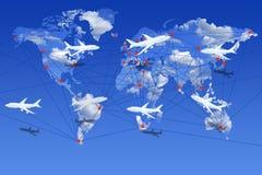 Linhas aéreas o mundo sobre Imagem de Stock
