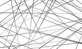 Linhas abstratas caóticas fundo do teste padrão do vetor ilustração stock
