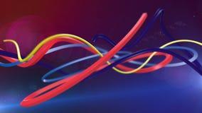Linhas abstratas coloridas filme