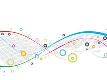 Linhas abstratas com círculos Imagens de Stock