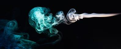 Linhas abstratas do fumo Fotografia de Stock Royalty Free