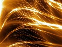 Linhas abstratas do ouro Foto de Stock