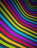 Linhas abstratas no fundo dimensional do vetor do sumário da perspectiva 3D, disposição de projeto funky fresca ilustração royalty free