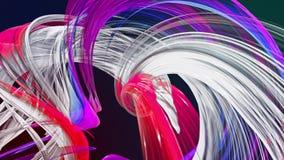 Linhas abstratas no movimento como o fundo criativo sem emenda As listras coloridas torcem em uma forma??o circular 3D dado la?os ilustração do vetor