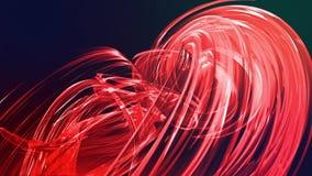 Linhas abstratas no movimento como o fundo criativo sem emenda As listras coloridas torcem em uma forma??o circular 3D dado la?os filme