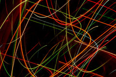 Linhas abstratas teste padrão colorido das curvas Fotos de Stock