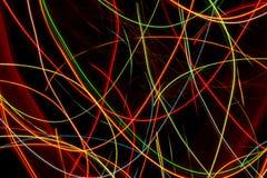 Linhas abstratas teste padrão colorido das curvas Fotografia de Stock Royalty Free