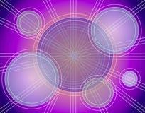 Linhas abstratas teste padrão dos círculos Fotografia de Stock Royalty Free