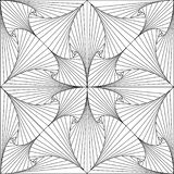 Linhas abstratas Trippy teste padrão da ilustração de 3d ilustração royalty free