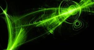 Linhas abstratas verdes fundo das partículas das curvas Imagem de Stock Royalty Free