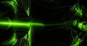 Linhas abstratas verdes fundo das partículas das curvas Fotografia de Stock Royalty Free